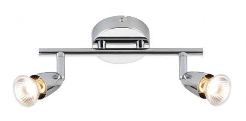 Chrome effect plate Spotlight 43278 by Endon